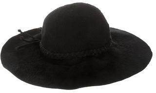 Bottega VenetaBottega Veneta Fur Wide-Brim Hat