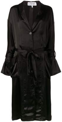 Loewe satin belted coat