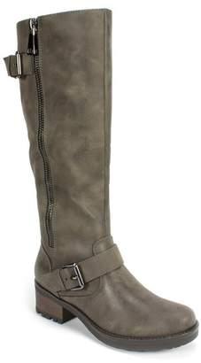 White Mountain Blackbird Faux Leather Riding Boot