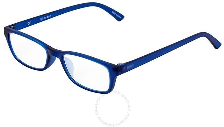 B+D Icon Reader Matt Blue Eyeglasses