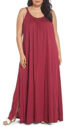 Caslon Twist Neck Maxi Dress