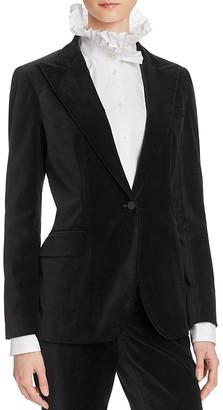 Lauren Ralph Lauren Velvet Peak Lapel Blazer - 100% Bloomingdale's Exclusive $295 thestylecure.com