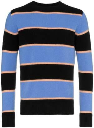 The Elder Statesman black periwinkle cashmere stripe sweater
