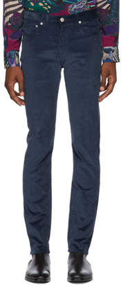 Paul Smith Blue Corduroy Slim Trousers