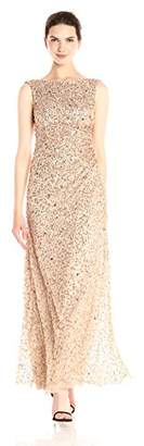 Adrianna Papell Women's Sleevless Cowl Back Beaded Long Gown