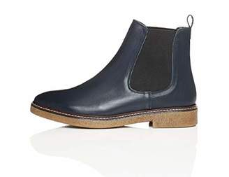 FIND Women s Chelsea Boots in Leather with Gum Sole and Rand 7558dc34d