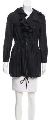 Valentino Ruffle-Trimmed Silk Coat