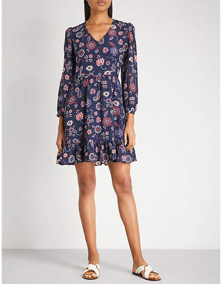 Claudie Pierlot Floral and paisley-print silk dress