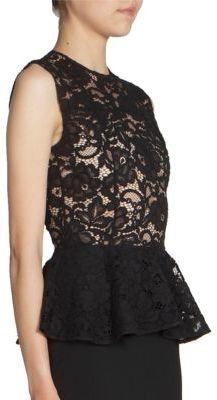 Saint LaurentSaint Laurent Lace Top Peplum Dress