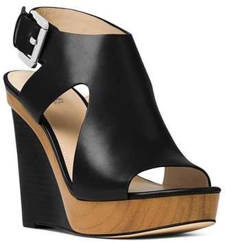 c9b1a6ea3c03 MICHAEL Michael Kors Women s Josephine Leather Platform Wedge Sandals