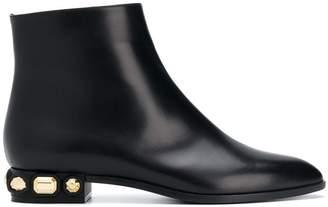 Casadei studded heel boots