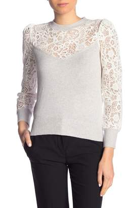 Rebecca Taylor Long Sleeve Lace Blouse