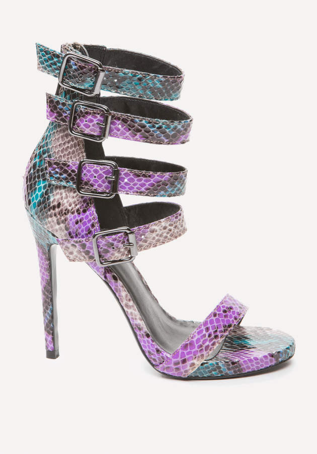 Theda Faux Snake Sandals