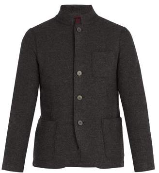 Harris Wharf London Single Breasted Wool Jacket - Mens - Grey