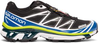 Salomon Black and Blue S/Lab XT-6 Softground ADV Sneakers