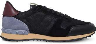 Valentino Rockrunner leather, suede and mesh trainers