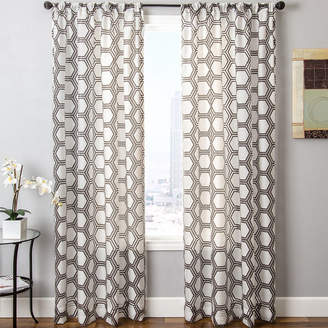 JCPenney SOFTLINE HOME FASHIONS Ransom Rod-Pocket Sheer Panel