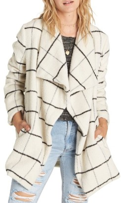 Women's Billabong Evermore Plaid Coat $159.95 thestylecure.com