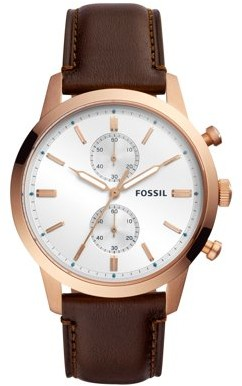 Fossil Men's Townsman Brown Leather Chronograph Watch (Style: FS5280)