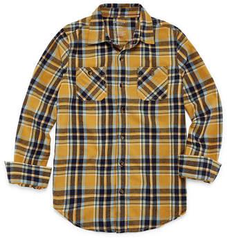 Arizona Long Sleeve Flannel Shirt Boys 4-20 & Husky