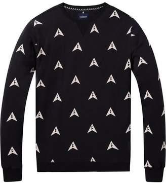 Scotch & Soda Printed Pattern Sweatshirt