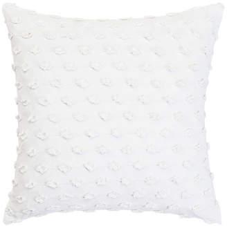 Trina Turk White Square Fringe Pillow