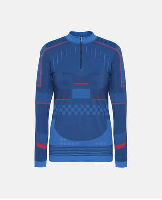 adidas by Stella McCartney Blue Training Seamless Long Sleeve Shirt