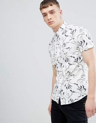 Solid Regular Fit Shirt in Seaweed Print