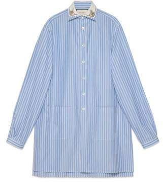 Gucci Striped oversize cotton shirt