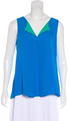 Halston Silk Sleeveless Blouse