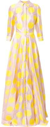 Carolina Herrera polka dot shirt dress