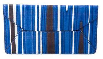 Tory Burch Striped Envelope Clutch