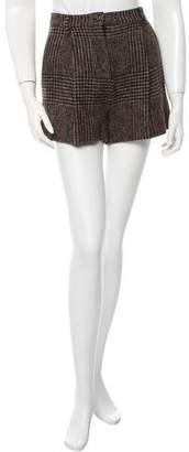 Dolce & Gabbana Plaid Wool Shorts