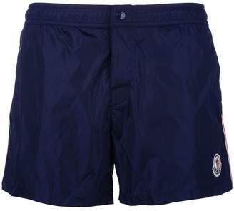 Moncler side stripe swim shorts