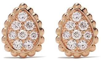 Boucheron 18kt rose gold Serpent Bohème diamonds XS motif stud earrings