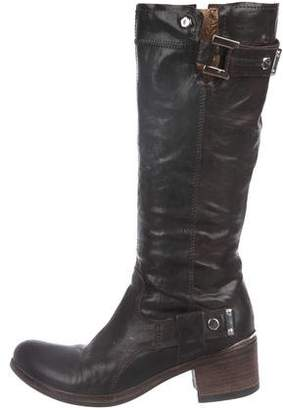 Vic Matié Leather Mid-Calf Boots