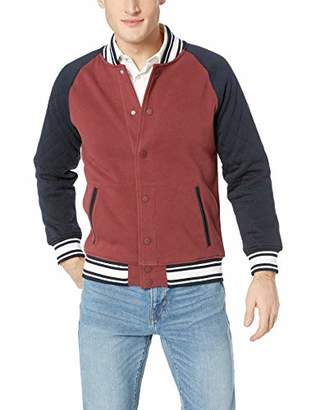 Armani Exchange A|X Men's Two-Tone Varsity-Style Jacket