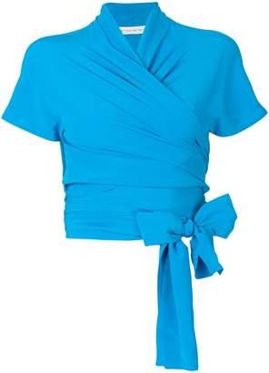 Etro bow tie wrap blouse