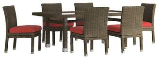 HomeVance Outdoor HomeVance Ravinia Brown Wicker Patio Dining Table & Armless Chair 7-piece Set