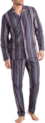 Hanro Noe Striped Classic Two-Piece Pajamas