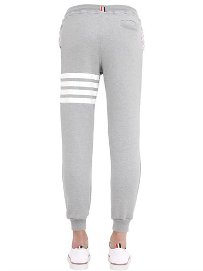 Stripes Printed Cotton Jogging Pants 6