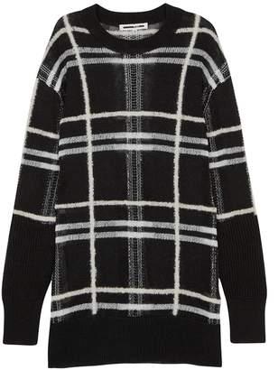 McQ Black Checked Linen-blend Jumper