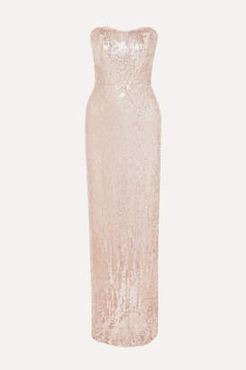 Jenny Packham Mirabelle Sequined Tulle Gown - Blush