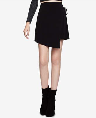 BCBGeneration Faux-Wrap Mini A-Line Skirt