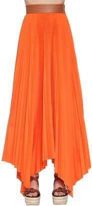 2134ba540da Loewe High Waist Pleated Cotton Twill Skirt