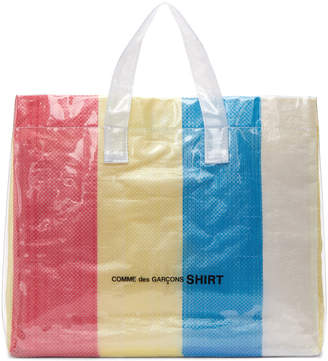 Comme des Garcons Multicolor PVC Picnic Tote Bag