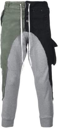 Greg Lauren patchwork sports trousers