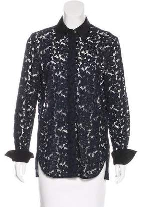 3.1 Phillip Lim Long Sleeve Lace Top