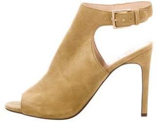 Tory Burch Suede Peep-Toe Sandals