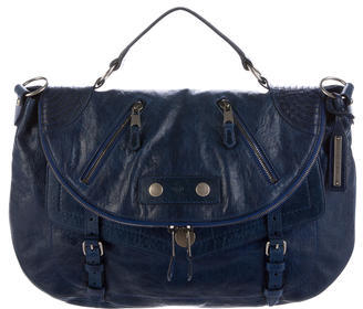 Alexander McQueen Alexander McQueen Leather Flap Satchel